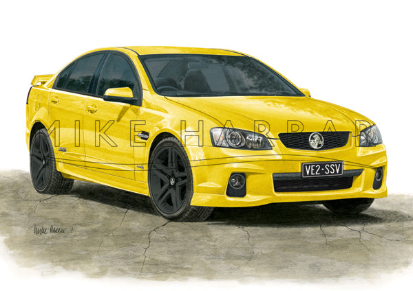 Holden Commodore VE 2 Sedan Personalised Print - Your COLOUR & REGO