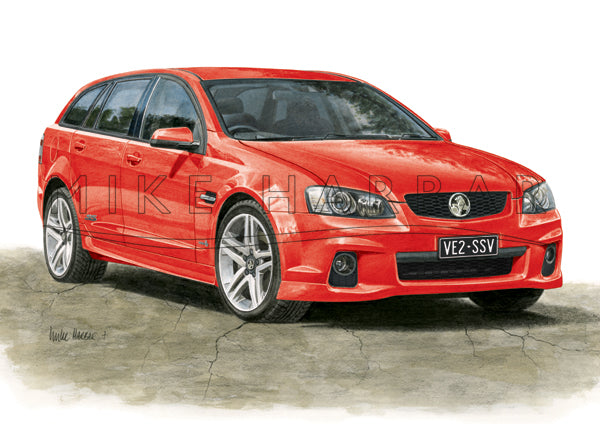 Holden Commodore VE 2 Sportswagon - Colour Print