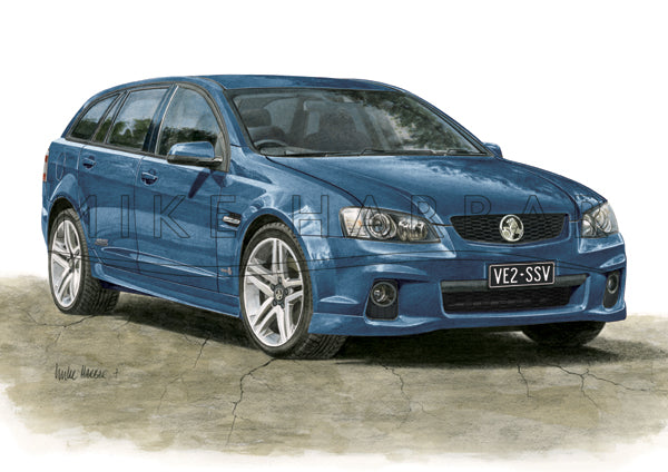 Holden Commodore VE 2 Sportswagon Personalised Print - Your COLOUR & REGO
