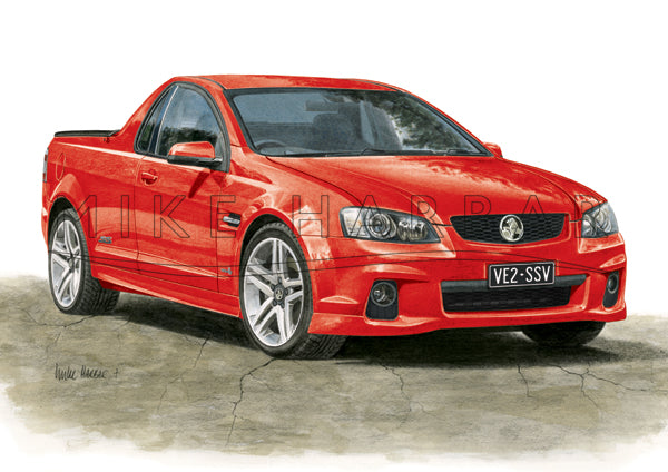 Holden Commodore VE 2 Ute - Colour Print