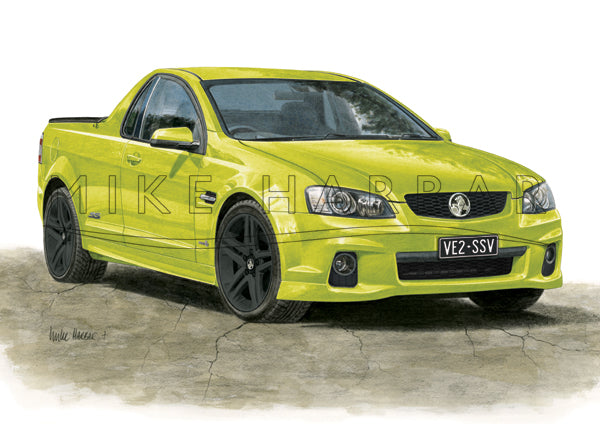 Holden Commodore VE 2 Ute Personalised Print - Your COLOUR & REGO