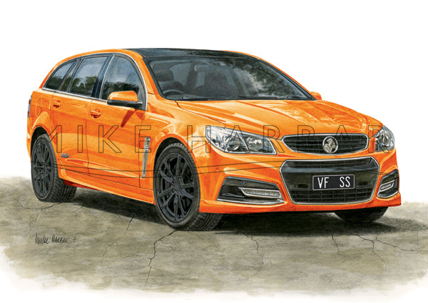 Holden Commodore VF I Sportswagon Personalised Print - Your COLOUR & REGO
