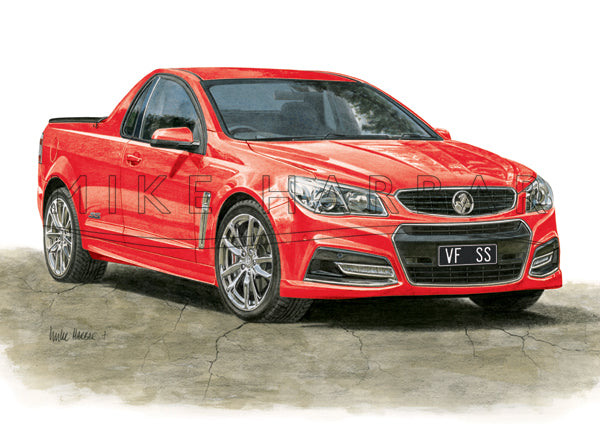 Holden Commodore VF I Ute - Colour Print