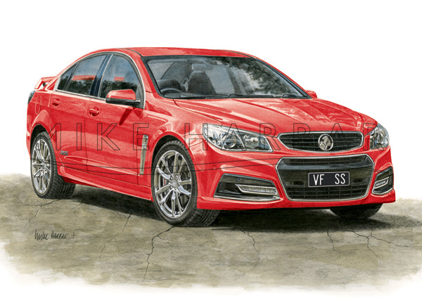 Holden Commodore VF I Sedan - Colour Print