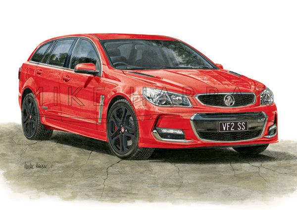 Holden Commodore VF II Sportswagon - Colour Print
