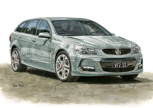 Holden Commodore VF II Sportswagon Personalised Print - Your COLOUR & REGO