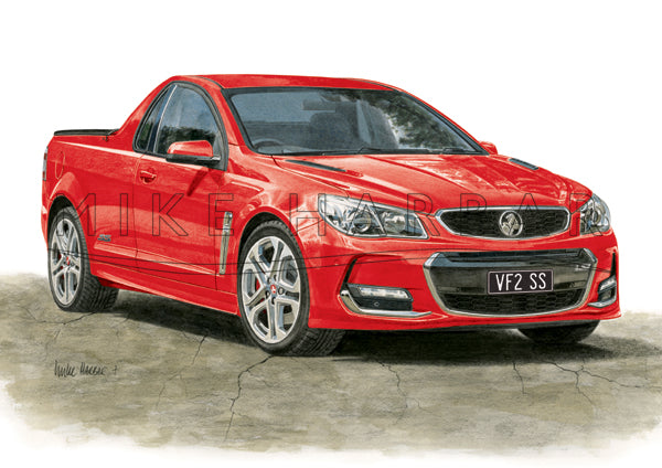 Holden Commodore VF II Ute - Colour Print