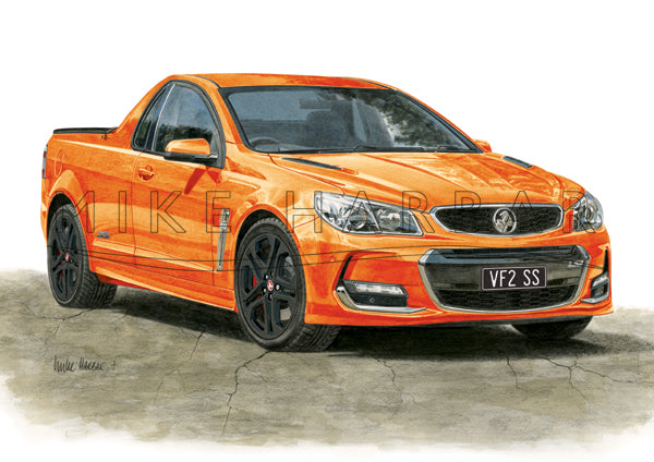Holden Commodore VF II Ute Personalised Print - Your COLOUR & REGO