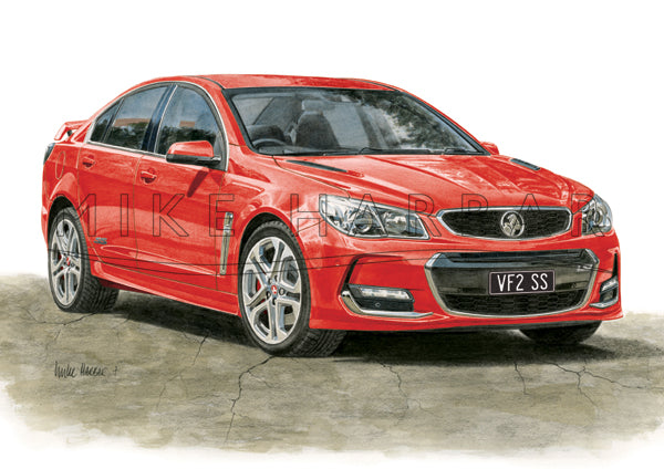 Holden Commodore VF II Sedan - Colour Print