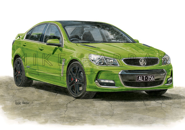 Holden Commodore VF II Sedan Personalised Print - Your COLOUR & REGO