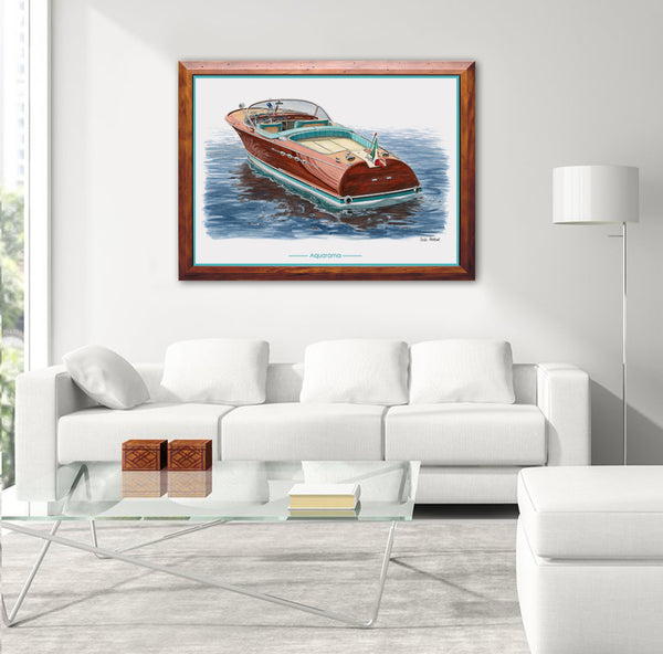 Riva Aquarama Super Canvas Print
