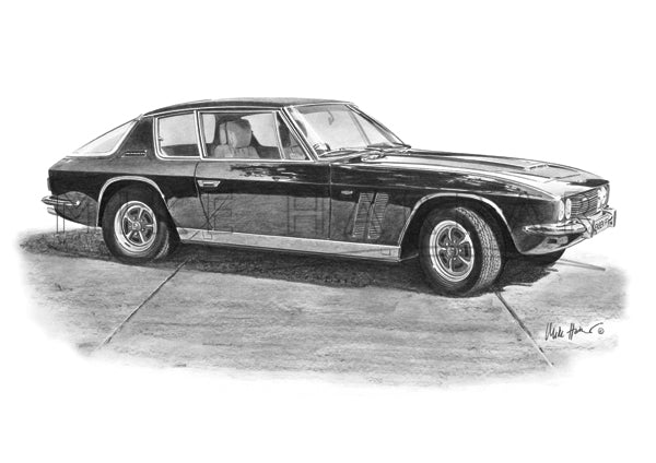 Jensen Interceptor FF Black & White Print