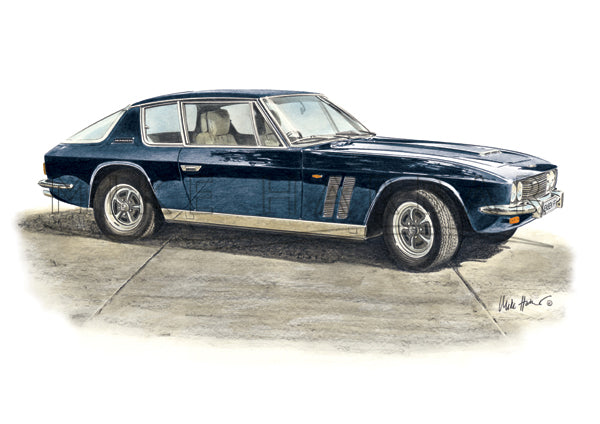 Jensen Interceptor FF Personalised Print - Your COLOUR & REGO