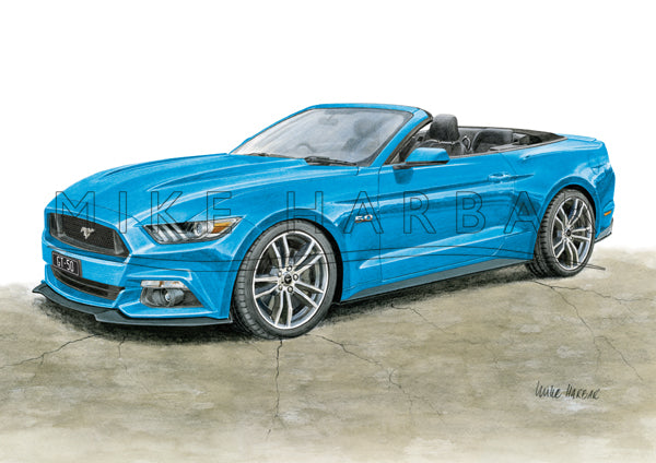 Ford Mustang 2017 GT CONVERTIBLE 5.0 Colour Print