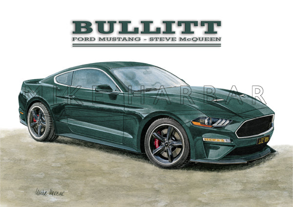 Bullitt 2018 Mustang Tribute Car