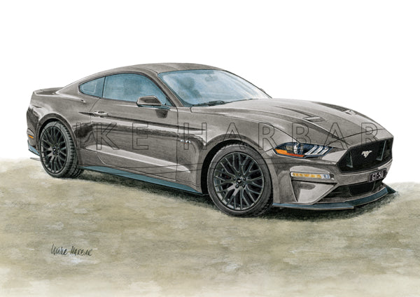 Ford Mustang 2018-19 GT 5.0 FASTBACK Colour Print