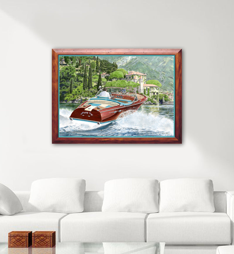 Riva Como - Aquarama Canvas Personalised Print