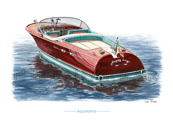 Riva Aquarama Personalised Print