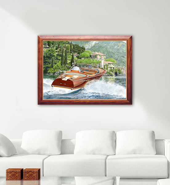 Riva Como - Riva Aquarama Super orange Canvas Print