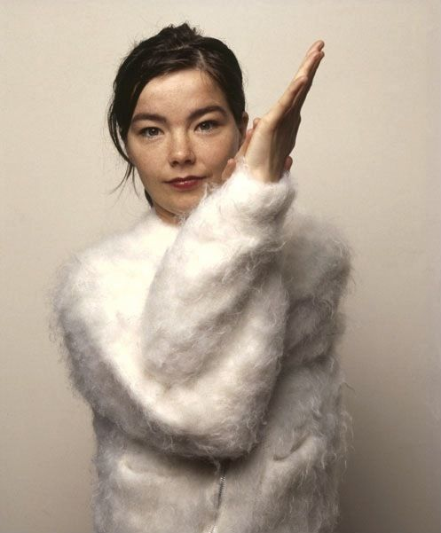 Bjork fluffy 90s jumper