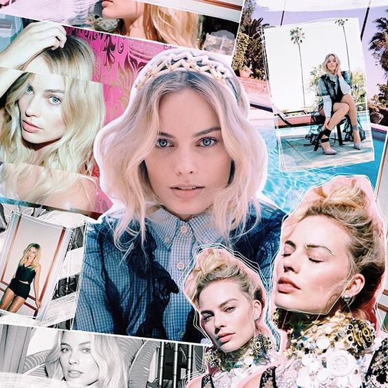 Margot Robbie Oyster collage