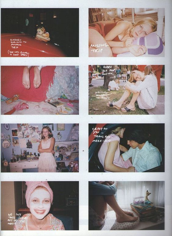 The Virgin Suicides story board
