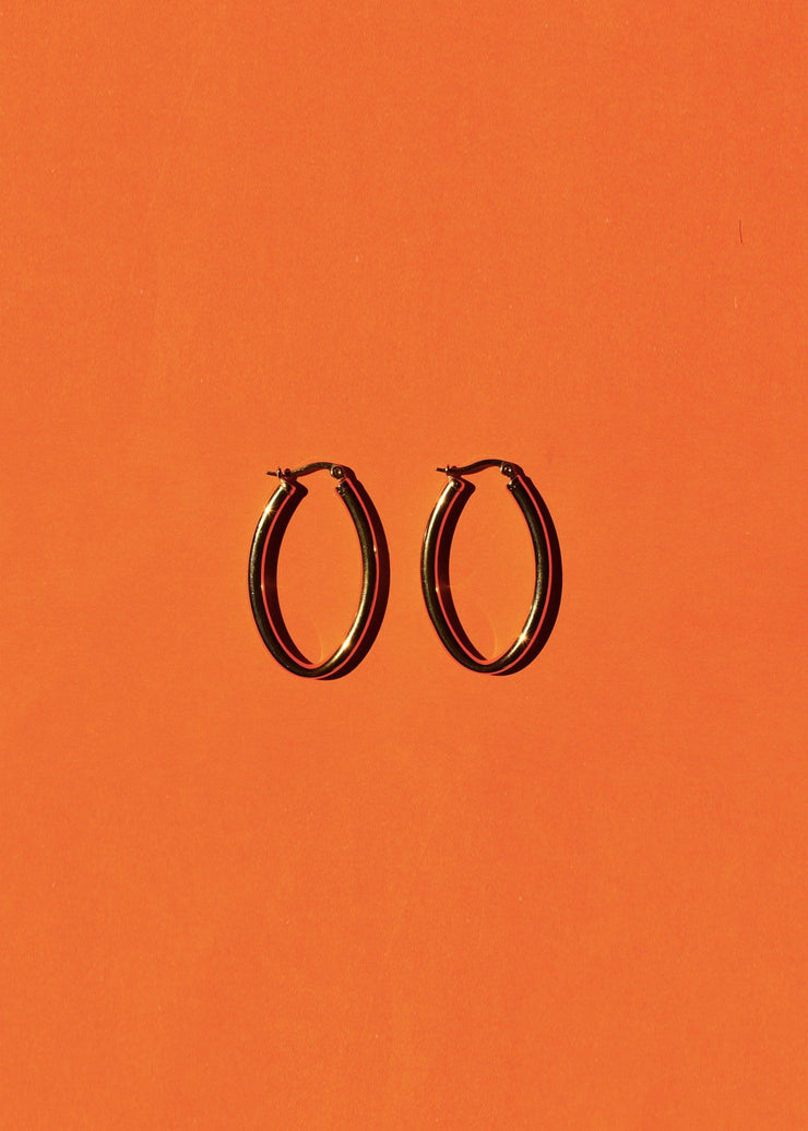 Copy of Large Bent Hoop Earrings