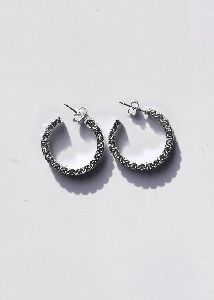 Malla Stud Hoop Earrings