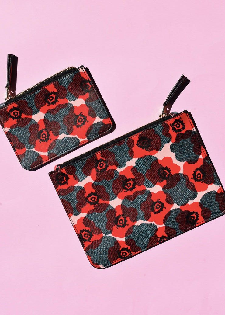 Poppy Coin Clutch