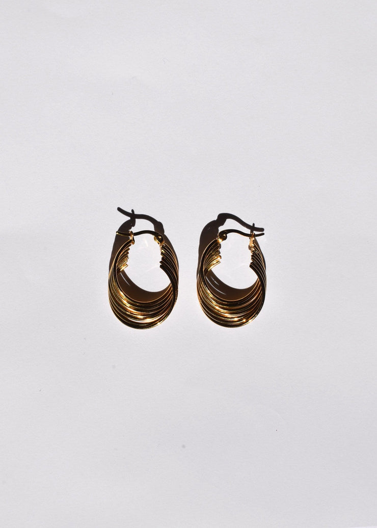 Smooth Wave Hoop Earrings