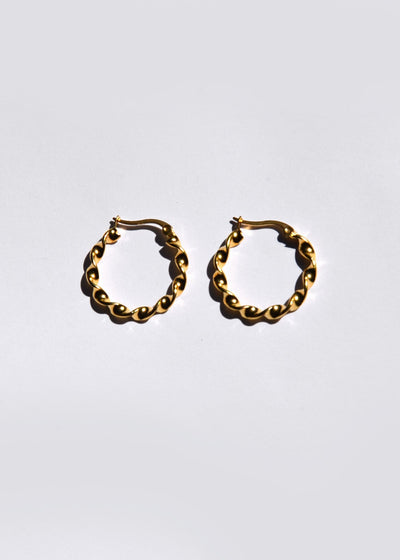 Small Swirl Hoop Earrings