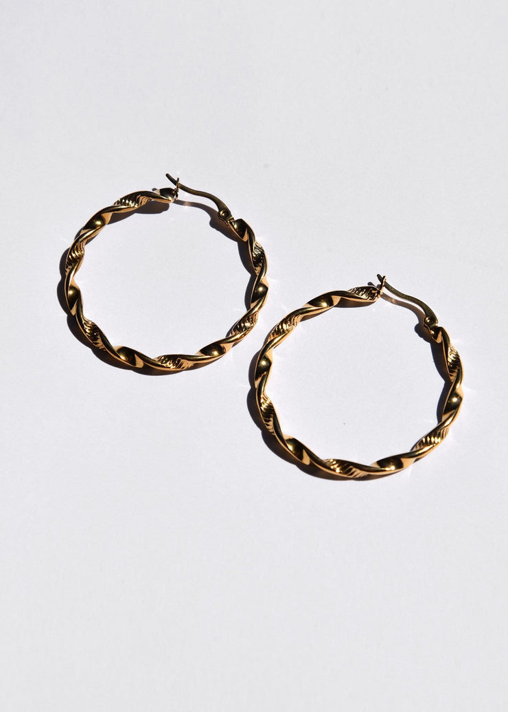 Soft Swirl Hoop Earrings