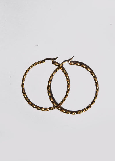 Hard Swirl Hoops Earrings