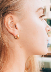 Thick Solid Sleeper Earrings