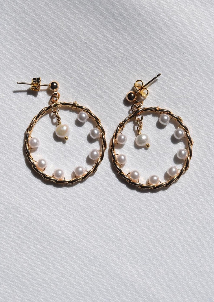 Angels in Florence Pearl Hoops