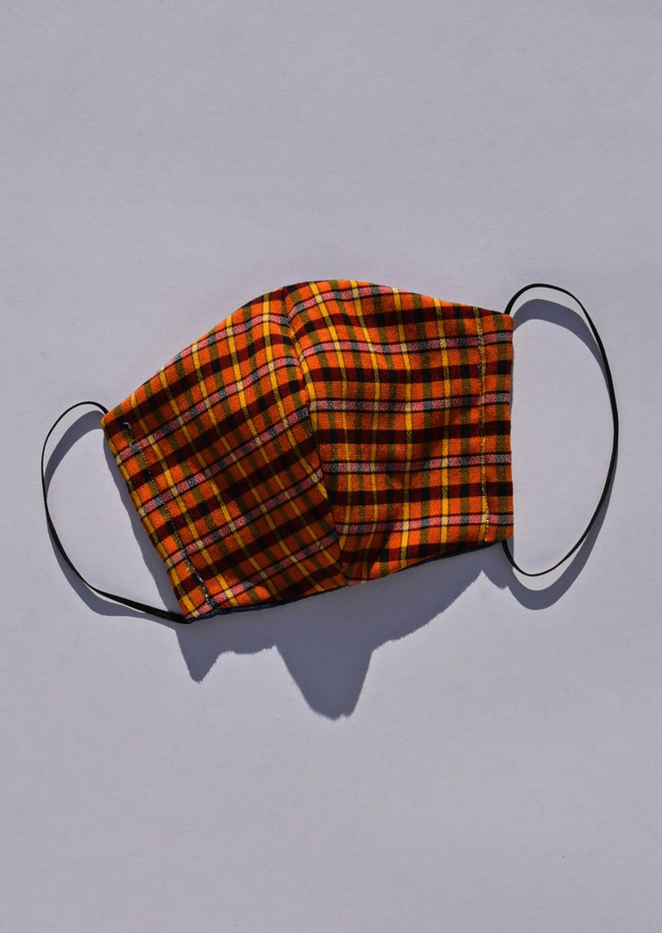 Sharona Mask Orange Check