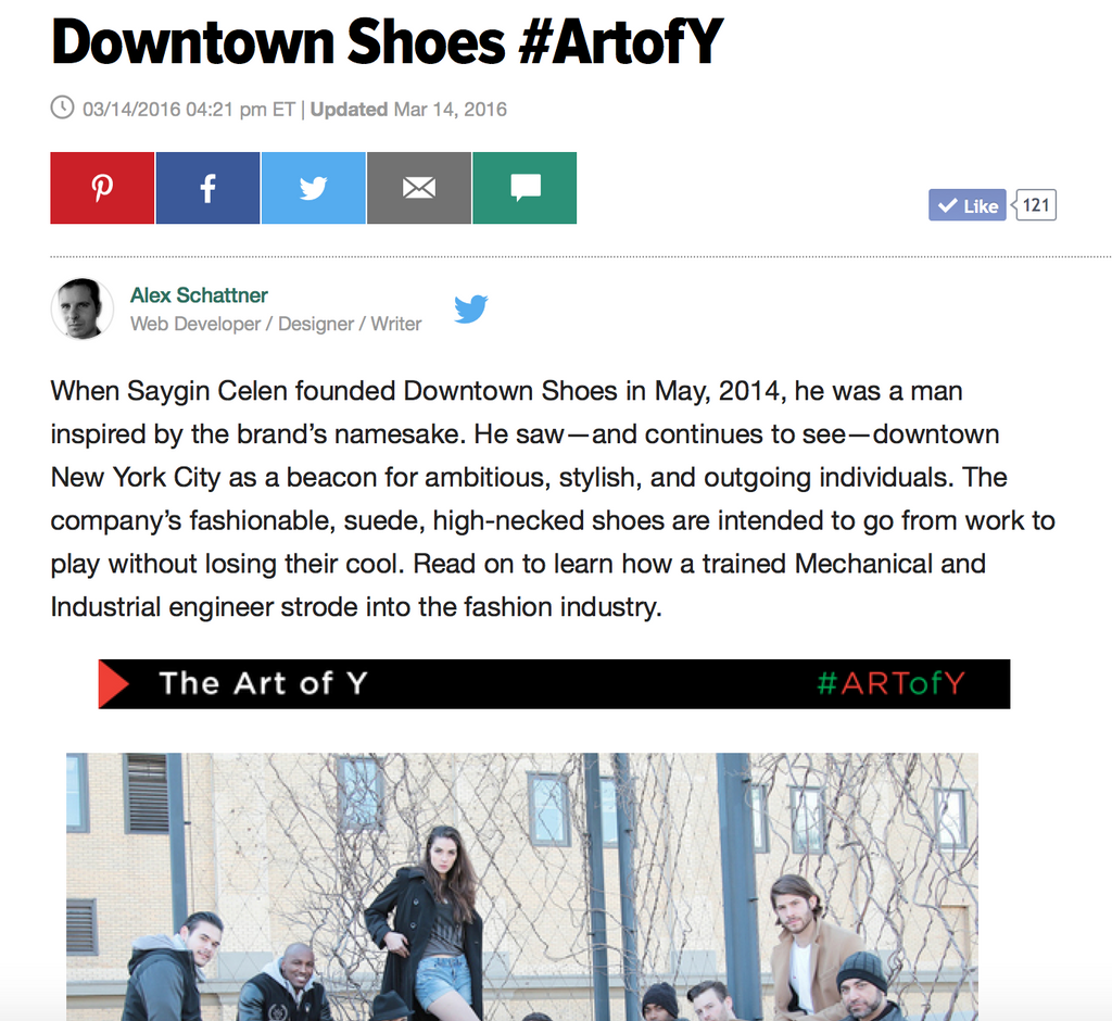 Downtown Story on Huffington Post