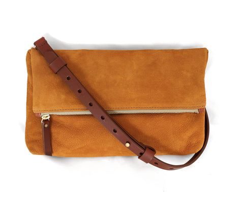 "Medium Crossbody Purse – ""The Betty"" (nubuck leather)"