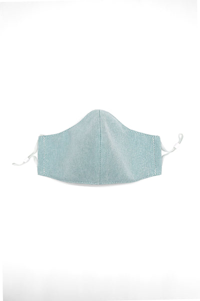 Green Linen Face Mask Washable Cotton Face Mask Three Layers Oxford Cloth Business Face Mask Office Face Mask