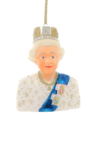 Queen Elizabeth II Glass Ornament