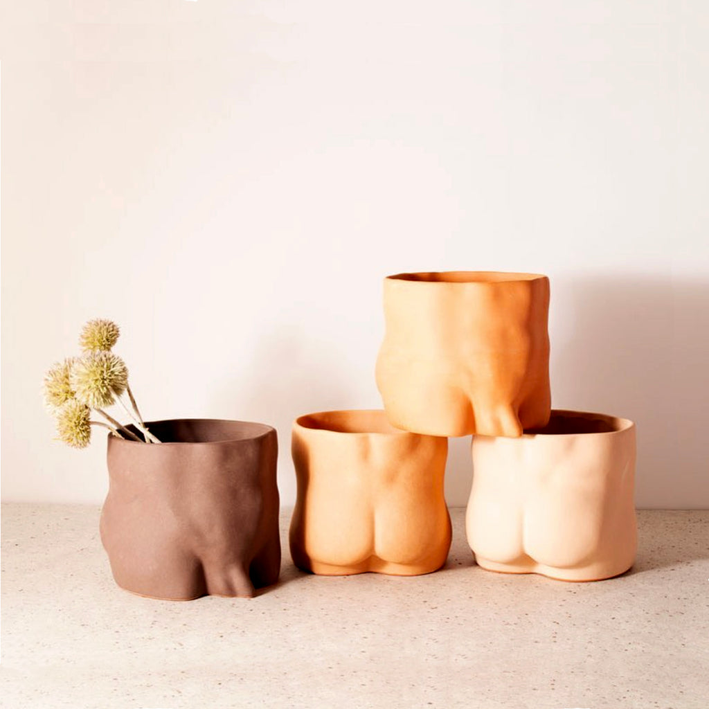 GroupPartner Terracotta Bottoms Planter Light Medium Dark
