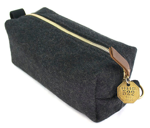 Medium Dopp Kit Military Toiletry Bag Military Blanket bag vintage brass tag
