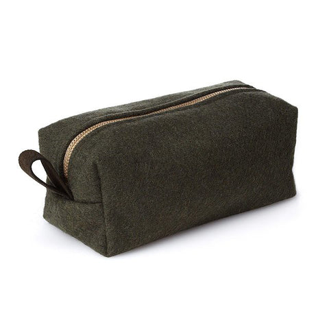 Olive Dopp Kit Military Blanket toiletry bag military blanket bag