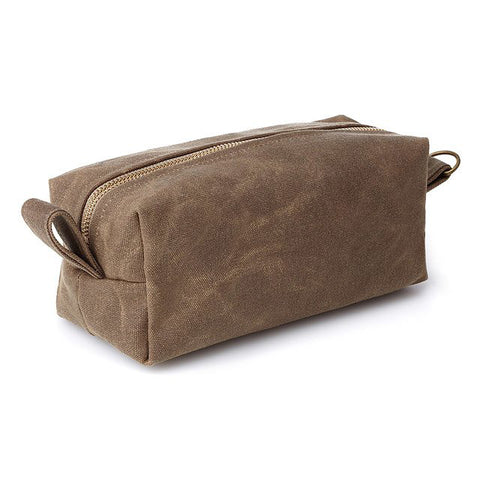 Waxed Canvas Dopp Kit Toiletry Bag Waxed Sailcloth bag Medium