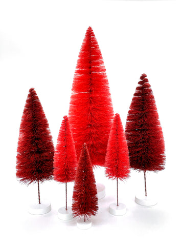 Red Bottle Brush Trees Holiday Bristle Brush Cody Foster