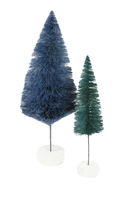 Blue Bottle Brush Trees Teal Bristle Brush Christmas Trees Decor Decorations