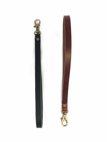 Leather wristlet strap Black leather wristlet Brown leather wristlet