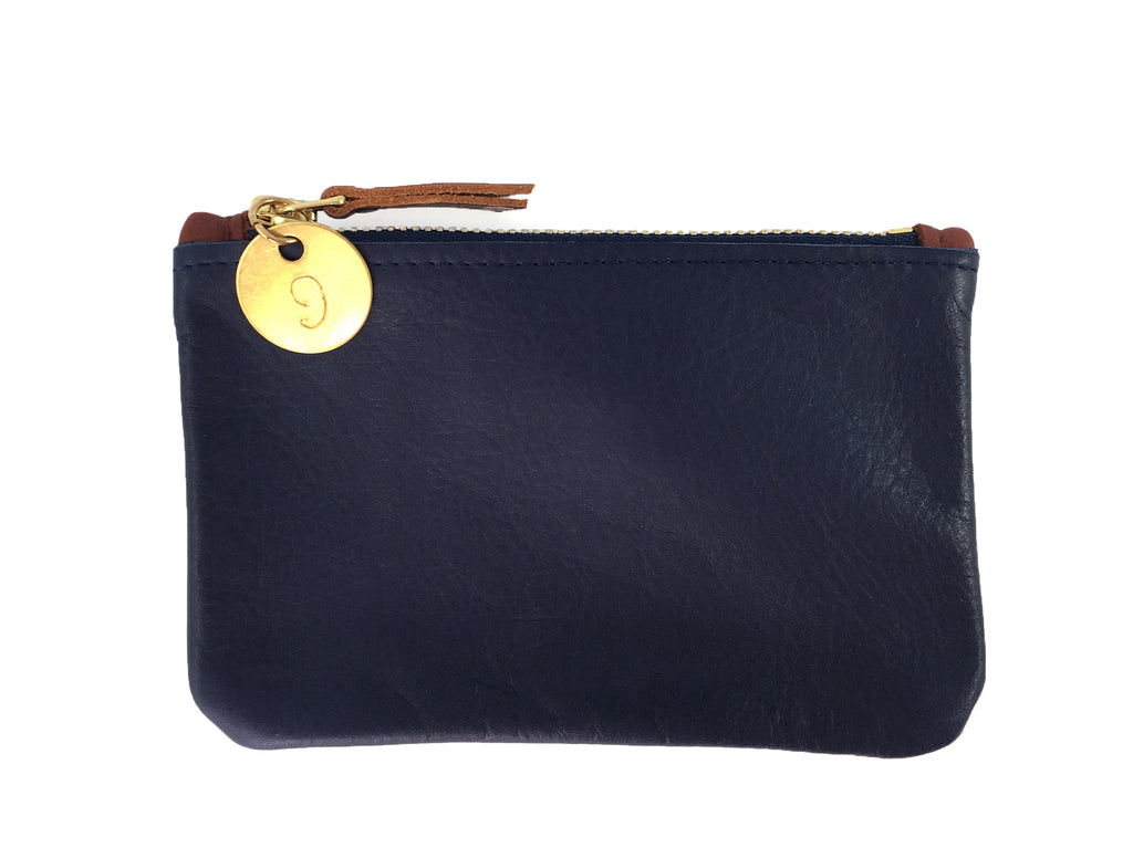 Small Coin Pouch - Midnight Navy Leather