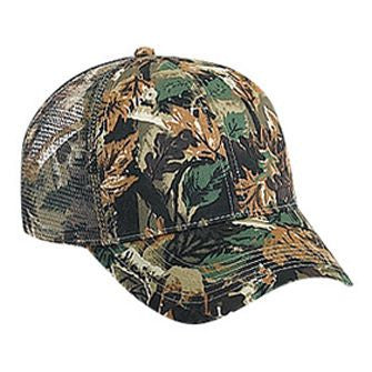 SIX PANEL COTTON TWILL CAMOUFLAGE CAP