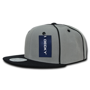 PIPED CROWN SNAPBACK